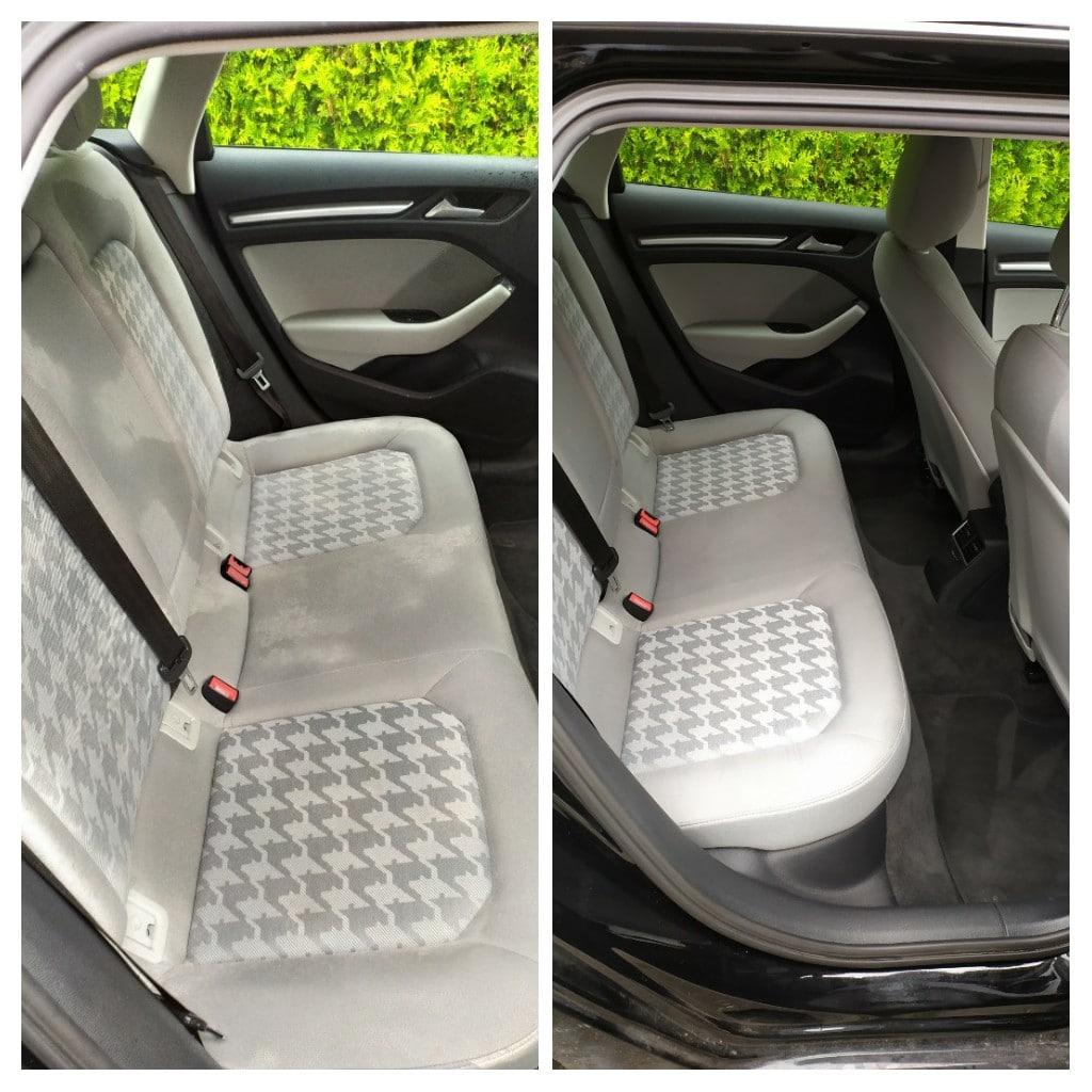 Vyčištění sedaček v autě